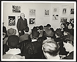 Holger Cahill speaking at the Harlem Community Art Center