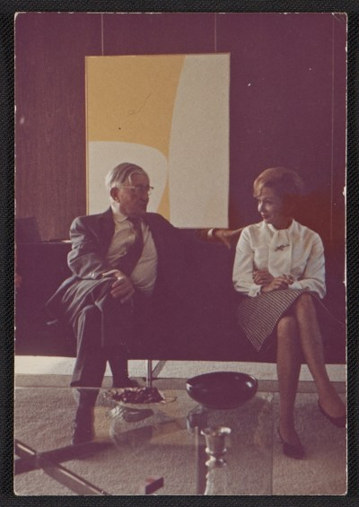 [Lorser Feitelson and an unidentified woman]