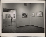 [Installation view of a Lorser Feitelson exhibition ]