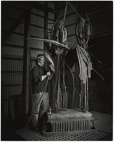 [Albert Paley working on  Animal Sculpture ]