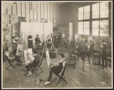 Art class at Oldfields School in Glencoe, Maryland