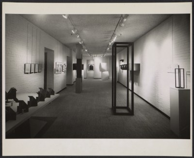 Installation view of Art in Process at the Finch College Museum