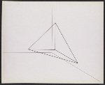 A photograph of a drawing by Robert Morris for Untitled