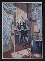 [Reproduction of Ethel Fisher's painting Margaret Fisher reflected in studio mirror 1]