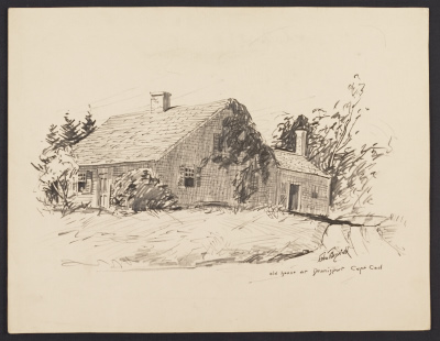 [Old house at Dennisport, Cape Cod]