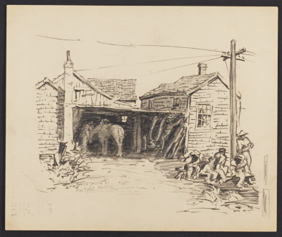 [View of a stable in Rockport, Massachusetts]