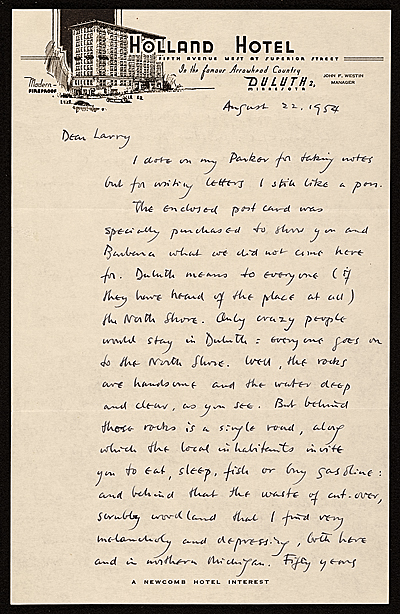 [Edgar Preston Richardson letter to Lawrence Arthur Fleischman, Detroit, Mich.]