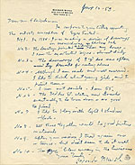 Reginald Marsh, New York, N.Y. letter to Lawrence Arthur Fleischman