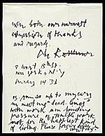 [Letter from Abraham Rattner to Lawrence and Barbara Fleischman 1]