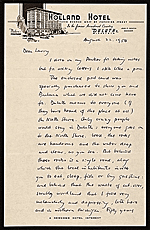Edgar Preston Richardson letter to Lawrence Arthur Fleischman, Detroit, Mich.
