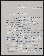 Louis Bouché  letter to Lawrence Fleischman