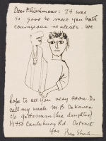 Ben Shahn letter to Barbara and Lawrence Fleischman