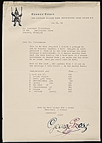 George Grosz, Huntington, N.Y. letter to Lawrence Arthur Fleischman, Detroit, Mich.