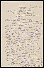William Zorach, Bath, Me. letter to Lawrence Arthur Fleischman, Detroit, Mich.