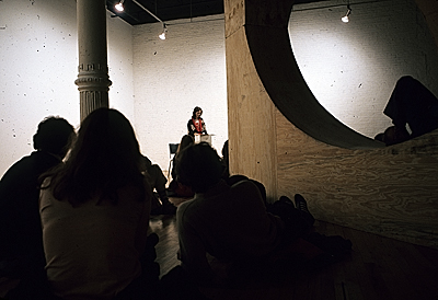 [Performance at the OK Harris Gallery]