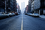 Street view, Soho, World Trade Center in background