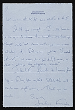 [Jacqueline Kennedy Onassis, Hyannis Port, Mass. letter to James Whitney Fosburgh page 3]