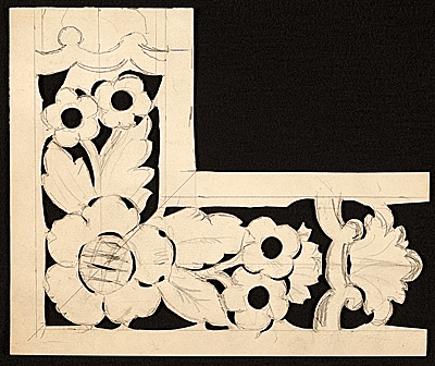 [Stencil for carving wood frame used by Foster Brothers Picture Frames]