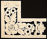 Stencil for carving wood frame used by Foster Brothers Picture Frames