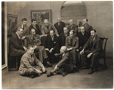 [Group of artists at the Rehn Gallery]