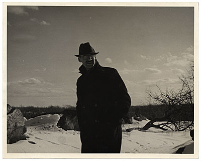 [John R. Frazier in winter]
