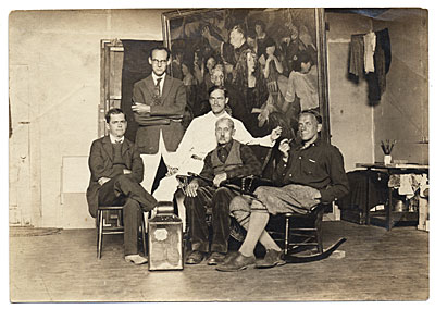 John Frazier and others in the Pearl Street Studio.
