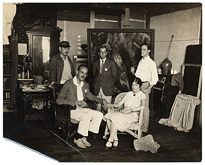 Group in Edwin Dickinsons studio