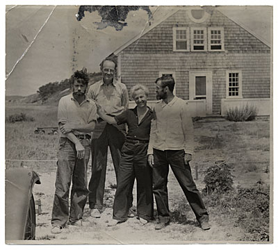 Group in front of Edwin Dickinsons house in Wellfleet.