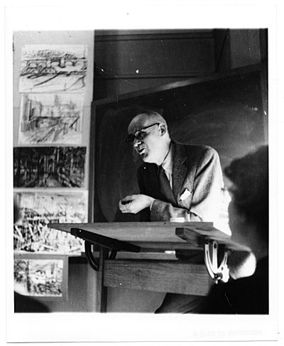 John R. Frazier lecturing at Rhode Island School of Design