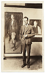 John R. Frazier at an exhibition