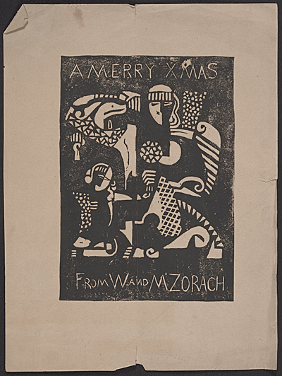 [Christmas print from William and Marguerite Zorach]