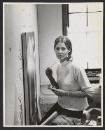 Deborah Remington in her studio