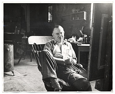 Emil Ganso in his studio