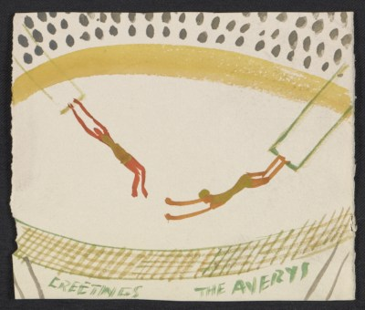 [Milton Avery holiday card to Fred and Adelaide Morris Gardner]