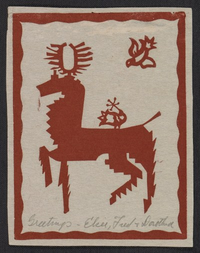 [Elsie, Fred, & Dorothea (last name unknown) Christmas card to Fred and Adelaide Morris Gardner]