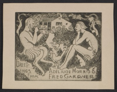 [Fred and Adelaide Morris Gardner holiday card]