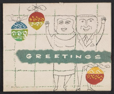 [Gordon and Helen (last name unknown) Christmas card to Fred and Adelaide Morris Gardner]