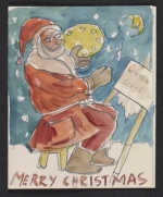 Boris Artzybasheff Christmas card to Fred and Adelaide Gardner