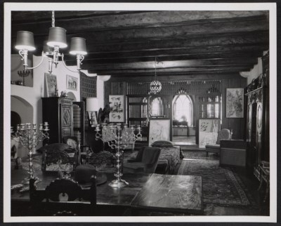 [Leon Gaspard's home and gallery in Taos.]
