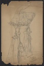 Miklos Gaspar sketch of a textile