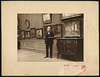 [Walter Gay in a gallery]