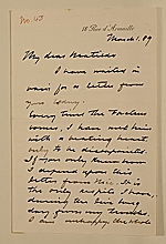 Walter Gay letter to Matilda Gay