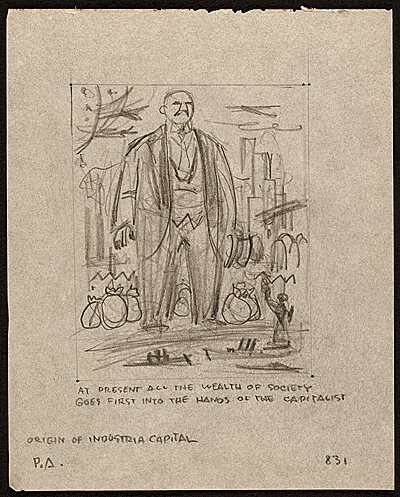 [Sketches from Karl Marx's Capital in Lithographs]