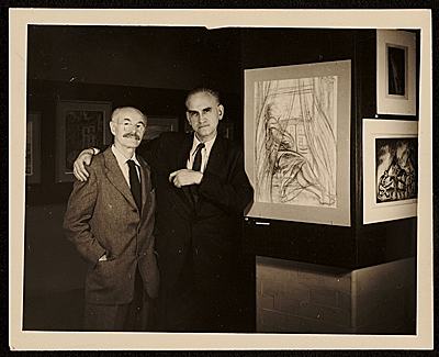 [Hugo Gellert and an unidentified man]