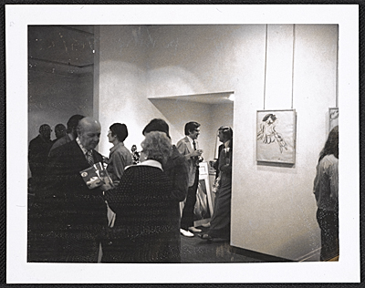 [Gertrude Kasle Gallery, opening for the Willem de Kooning exhibit]