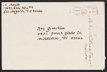 [Mary Meyer holiday card to Ray Gloeckler envelope 2]