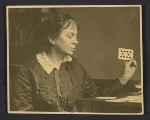 Anne Goldthwaite playing solitaire