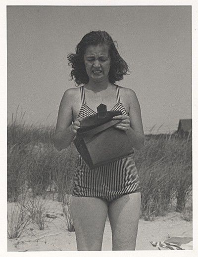 Felicia Marsh at the beach