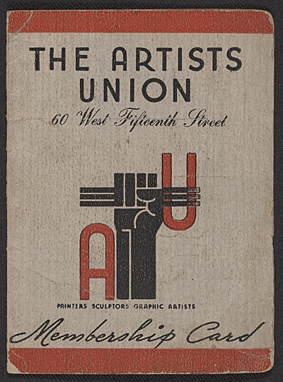 Harry Gottlieb's Artists' Union membership card