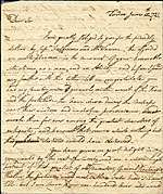 Benjamin West letter to Charles Willson Peale